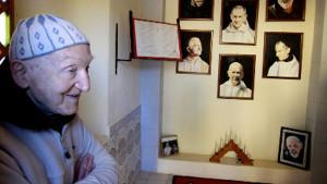 Frère Jean-Pierre, le dernier moine de Tibhirine, à Midelt au Maroc. Credit photo : Delphine Warin