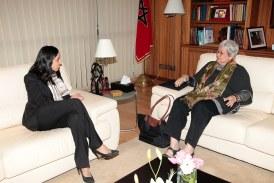 Mbarka Bouaida s'entretient avec l'experte indépendante de l'ONU