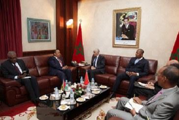 Le Président de la Chambre des représentants s'entretient avec le Premier ministre et chef du gouvernement de la république démocratique de Sao Tomé et Principe