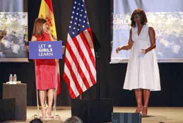 Accès des filles à l'éducation : Michelle Obama à Madrid