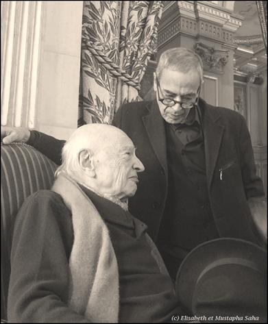 Mustapha Saha en compagnie d'Edgar Morin.