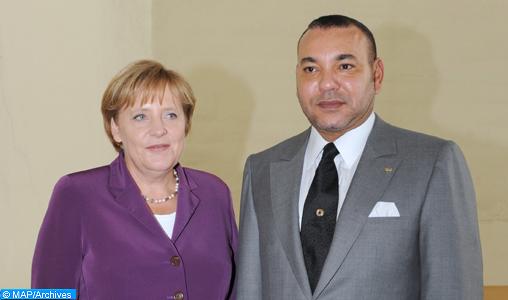 Entretien téléphonique entre SM le Roi et la chancelière Allemande Madame Angela Merkel