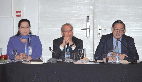 La Présidente de la CGEM, le Président du CDS et l'ambassadeur d'Espagne au Maroc
