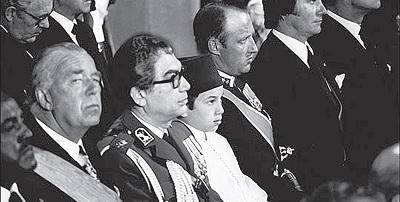 Mohammed VI,alors Prince Héritier, représentant le Maroc aux funérailles de Georges Pompidou, en avril 1974.