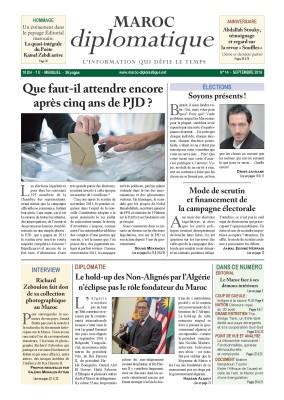 Le numéro 14 de Maroc diplomatique est  dans les kiosques
