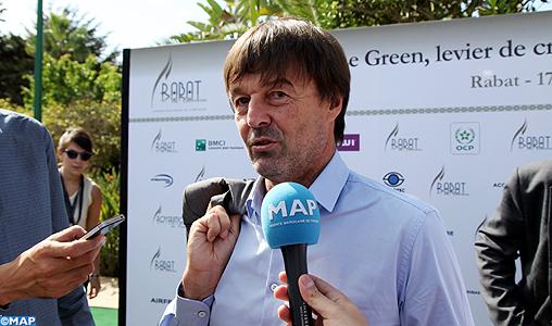"""Nicolas Hulot : La COP22 sera celle d'""""échange de solutions et de mutualisation des moyens"""""""