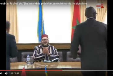 Le Souverain et le chef de l'Etat rwandais président une cérémonie de signature