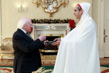 Le nouvel ambassadeur du Maroc à Dublin remet ses lettres de créance au Président Irlandais