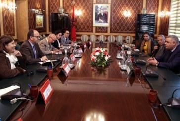 M. Benchamach s'entretient avec le secrétaire général de l'Union arabe des syndicats
