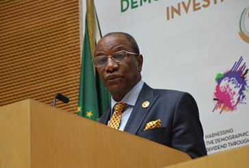 Le Président Alpha Condé rend un vibrant hommage à Feu SM Mohammed V, un des pères fondateurs de l'OUA