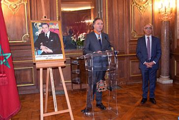 M. Benmoussa remet une décoration royale au député et ancien ministre français Luc Chatel