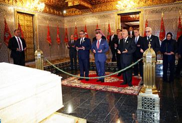 Vidéo. SM le Roi Abdallah II de Jordanie visite le Mausolée Mohammed V