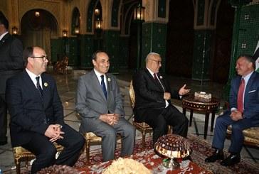 Le Souverain du Royaume Hachémite de Jordanie reçoit le Chef du gouvernement et les présidents des deux Chambres du Parlement