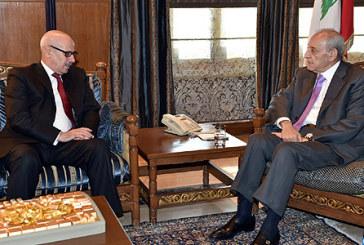 L'ambassadeur du Maroc à Beyrouth s'entretient avec le président de la chambre des représentants du Liban