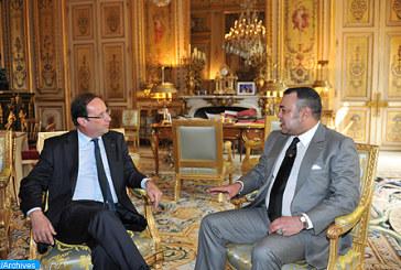 Rencontre entre Sa Majesté Le Roi Mohammed VI et le Président de la République française, Monsieur François Hollande