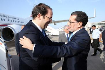 Arrivée au Maroc du chef du gouvernement tunisien