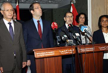 Le chef du gouvernement réitère la concordance des points de vue entre le Maroc et la Tunisie autour des questions d'intérêt commun