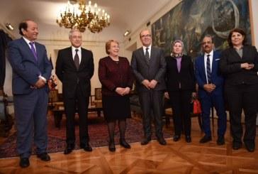 Michelle Bachelet reçoit à Santiago le président de la Chambre des Conseillers