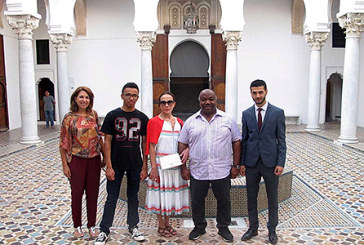M. Ali Bongo et sa famille découvrent la nouvelle scénographie du musée la Kasbah des cultures méditerranéennes de Tanger