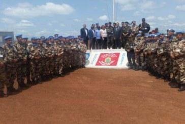 Une délégation militaire des Forces Armées Royales conduite par le Général de Corps d'Armée, visite les contingents des FAR déployés en RDC