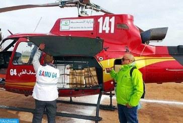 Transport héliporté d'une infirmière victime d'une crise de santé aiguë
