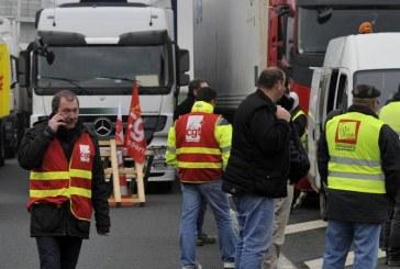 Journée de mobilisation des routiers contre le projet de réforme de la loi du travail