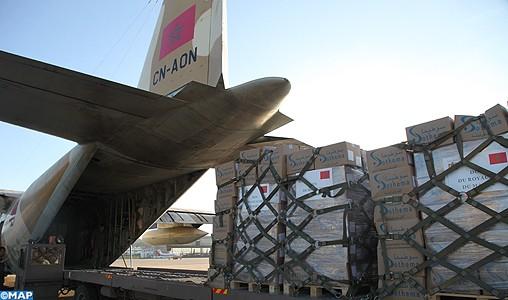 Poursuite du corridor humanitaire aérien pour acheminer les aides marocaines au peuple palestinien