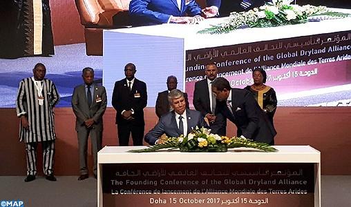 Le Maroc signe à Doha l'acte fondateur de l'Alliance mondiale des terres arides
