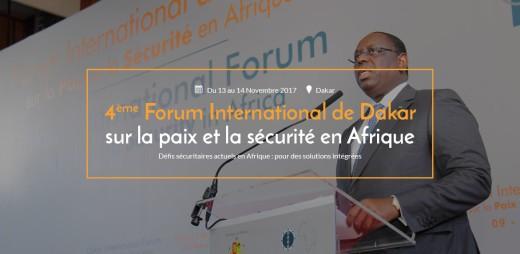 Ouverture du 4ème forum international de Dakar sur la paix et la sécurité en Afrique