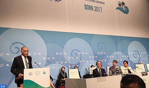 Forte participation du Maroc aux travaux de la COP23 à Bonn