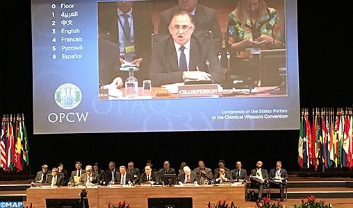 Le Maroc porté à la présidence de la 22ème Conférence des États Parties à la Convention sur l'Interdiction des Armes Chimiques