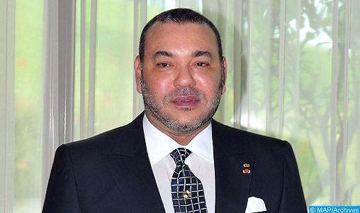Message de félicitations de SM le Roi aux membres de la Sélection nationale de football