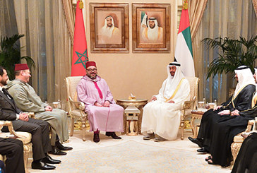 Rencontre à Abou Dhabi entre SM le Roi et SA Cheikh Mohammed Ben Zayed Al-Nahyane