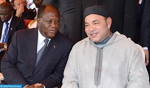SM le Roi et le Président ivoirien inaugurent le point de débarquement de pêche «Mohammed VI» de Locodjro