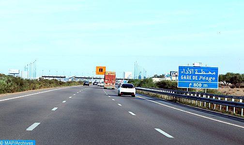 Autoroutes: circulation suspendue entre Sidi Allal El Bahraoui et Tiflet, mercredi de minuit jusqu'à 06H