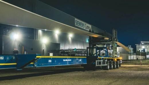 "Tanger: Siemens Gamesa exporte sa première pale éolienne ""made in Morocco"""