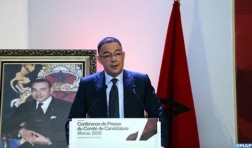 Mondial-2026 : la candidature du Maroc est celle de tout un continent (Lekjaa)