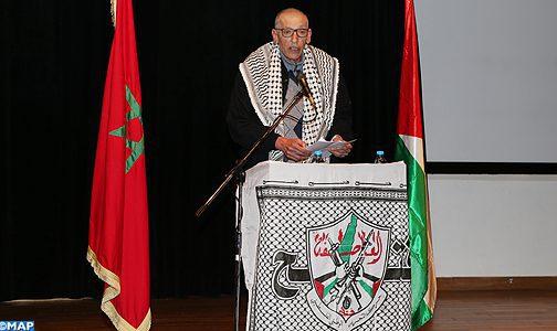 Meeting à Rabat en commémoration du 53è anniversaire de la révolution palestinienne