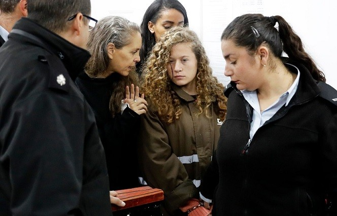 Nour Tamimi en libération conditionnelle mais pas Ahed