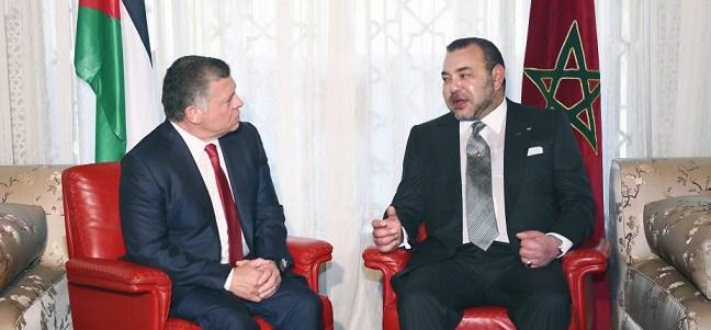 Le Roi Mohammed VI félicite le Roi de la Jordanie à l'occasion de son anniversaire