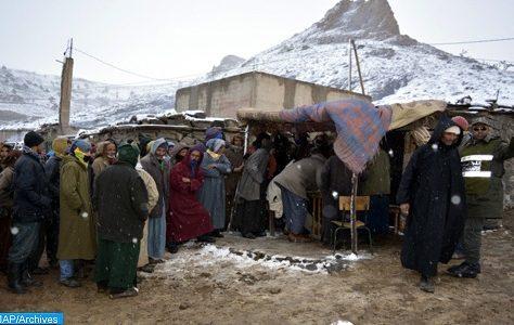 Vague de froid : Aides du Croissant-Rouge marocain à 3.500 familles dans 7 provinces