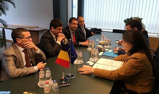 M. Bakkoury s'entretient à Bruxelles avec la ministre belge de l'Énergie, de l'Environnement et du Développement durable