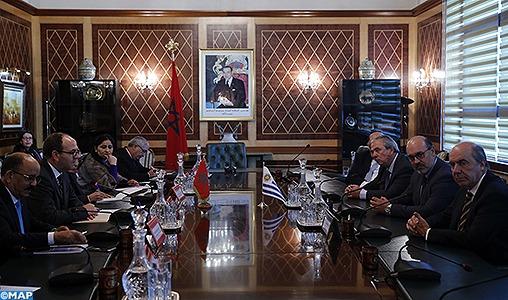 Le renforcement des relations bilatérales au cœur d'entretiens maroco-uruguayens
