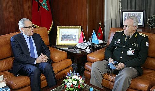 M. Loudyi reçoit le Général de Corps d'Armées Carlos Humberto Loitey, Conseiller militaire auprès du département de maintien de la paix de l'ONU