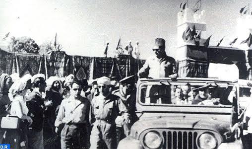 La visite historique de feu SM Mohammed V à M'Hamid El Ghizlane, une volonté commune du Roi et du peuple pour parachever l'intégrité territoriale du Maroc