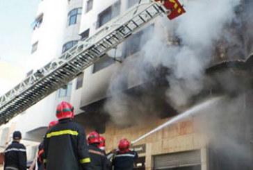 Un mort et quatre blessés dans un incendie à Salé