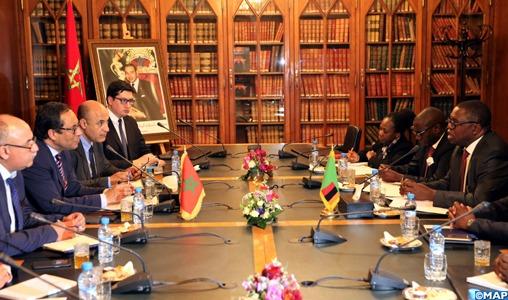 Le Maroc et la Zambie s'engagent à développer leur coopération dans les domaines des infrastructures et de la logistique