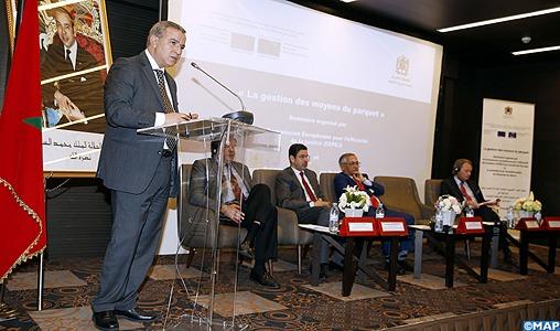 M. Aujjar insiste, à Rabat, sur la nécessité de l'amélioration de l'efficacité de la justice via une gestion rationnelle