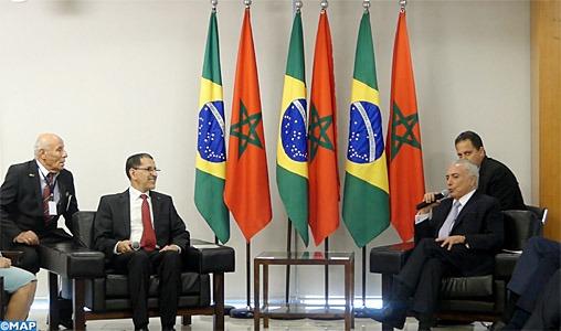 M. Saâd Eddine El Othmani reçu à Brasilia par le Président Michel Temer