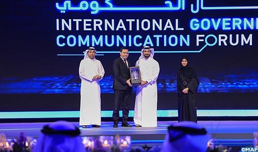 Emirats arabes-unis: M. El Khalfi honoré en reconnaissance de l'expérience du Maroc en matière de réformes numériques